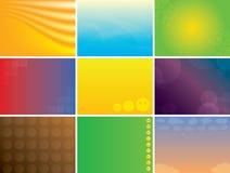 Paquet multicolore abstrait de milieux de vecteur Photo stock