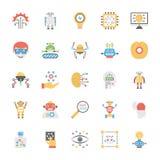 Paquet plat d'icône de vecteur d'intelligence artificielle illustration de vecteur
