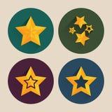 Paquet plat d'icône d'étoile de Noël avec la longue ombre Photos libres de droits
