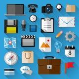 Paquet plat d'icônes Images libres de droits