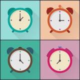 Paquet plat de conception d'alarme d'icône Photos stock