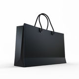 Paquet pour des achats le noir Image stock