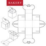 Paquet pour la boulangerie Illustration de vecteur de bo?te illustration de vecteur