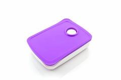 Paquet pourpre de boîte en plastique images libres de droits
