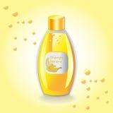 Paquet réglé par cosmétiques de vecteur Parfum de fruit de banane de shampooing d'hydratation Perfectionnez pour faire de la publ Photographie stock libre de droits