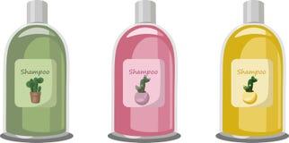 Paquet réglé par cosmétiques de vecteur Parfum de fruit de fraise de shampooing d'hydratation Perfectionnez pour faire de la publ Images libres de droits