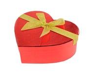 Paquet rouge de cadeau de coeur Image stock
