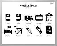 Paquet solide d'icônes médicales illustration de vecteur