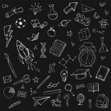 Paquet stationnaire de paquet de griffonnages d'école illustration libre de droits