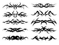 Paquet tribal de tatouage illustration de vecteur