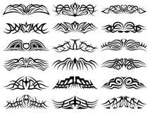 Paquet tribal de tatouage, vecteur Images stock