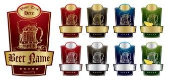 Paquet V2 d'étiquettes de bière illustration stock