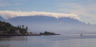 Paqueta island, Rio de janeiro, Brazil. Paqueta Island with the mountains at the background, Brazil Royalty Free Stock Photo