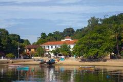 Paqueta, a tropical island at Rio de Janeiro, Brazil. Paqueta, a quiet tropical island inside the Guanabara bay, Rio de janeiro Stock Image