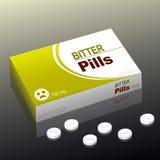 Paquete amargo de la medicina de las píldoras Fotografía de archivo