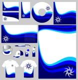 Paquete azul de la marca de fábrica de la onda Foto de archivo libre de regalías
