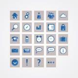 Paquete básico del icono del vector. Iconos del diseño moderno para el Web site o prese Fotos de archivo