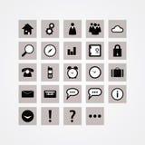 Paquete básico del icono del vector. Iconos del diseño moderno para el Web site o prese Foto de archivo libre de regalías