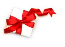 Paquete blanco del regalo Foto de archivo