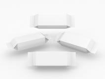 Paquete blanco para el producto largo de la forma del rectángulo Foto de archivo