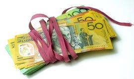 Paquete burocrático del dinero Foto de archivo