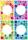 Paquete colorido de los fondos Imágenes de archivo libres de regalías