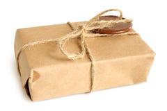 Paquete con la cera de lacre Imágenes de archivo libres de regalías