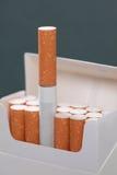 Paquete con los cigarrillos Foto de archivo libre de regalías