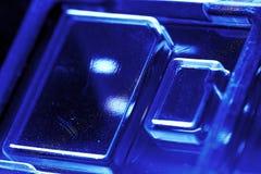 Paquete de ampolla plástico para el microprocesador del almacenamiento Foto de archivo