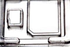 Paquete de ampolla plástico para el microprocesador del almacenamiento Imagen de archivo libre de regalías