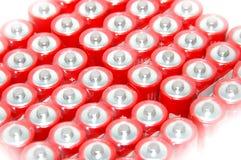 Paquete de baterías rojas Imagenes de archivo