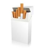 Paquete de cigarrillos Fotografía de archivo