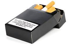 Paquete de cigarrillos Imágenes de archivo libres de regalías