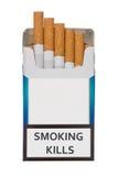Paquete de cigarrillos de las matanzas que fuman Foto de archivo libre de regalías