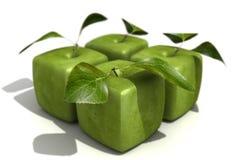 Paquete de cuatro manzanas cúbicas de Smith de abuelita Imágenes de archivo libres de regalías