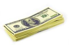 Paquete de dólares Imagen de archivo libre de regalías