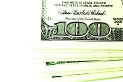 Paquete de dólares Imágenes de archivo libres de regalías