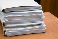 Paquete de documentos fotos de archivo libres de regalías