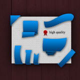 Paquete de elementos azules del web Foto de archivo libre de regalías