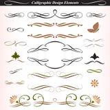Elementos caligráficos 04 del diseño ilustración del vector