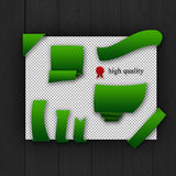 Paquete de elementos verdes del Web Fotos de archivo libres de regalías