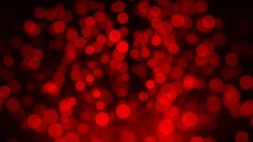 Paquete de fibras ópticas en luz roja imagenes de archivo