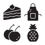 Paquete de iconos sólidos de la comida libre illustration