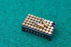 Paquete de la bala de la munición Foto de archivo