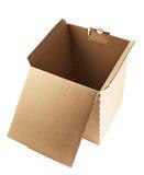 Paquete de la caja de cartón aislado Foto de archivo libre de regalías
