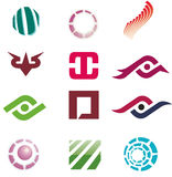 Paquete de la insignia Imágenes de archivo libres de regalías