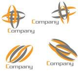 paquete de la insignia de la compañía stock de ilustración