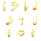 paquete de la música 3D Imágenes de archivo libres de regalías