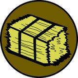 Paquete de la paja stock de ilustración