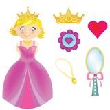 Paquete de la princesa Imágenes de archivo libres de regalías